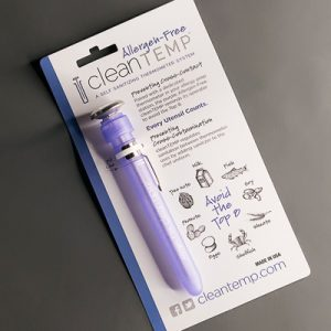 Allergen-Free cleanTEMP™ Tube Only, on Retail Card (box of 12)