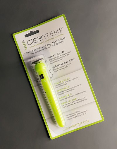cleanTEMP™ Tube w/ Thermometer, on Retail Card (box of 12)